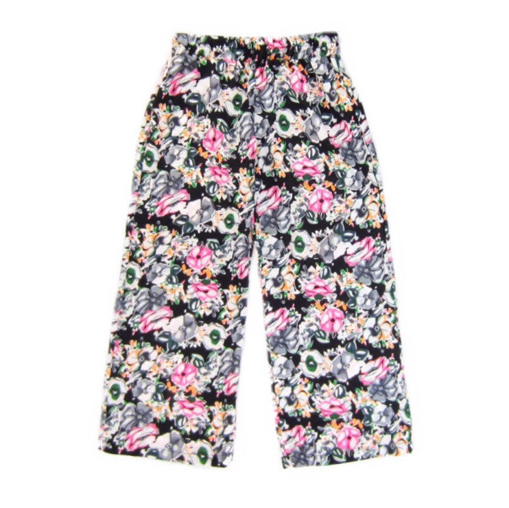 Girls Neon Floral Palazzo Pants