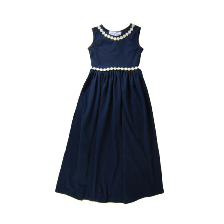 Girls Navy Blue Maxi Dress