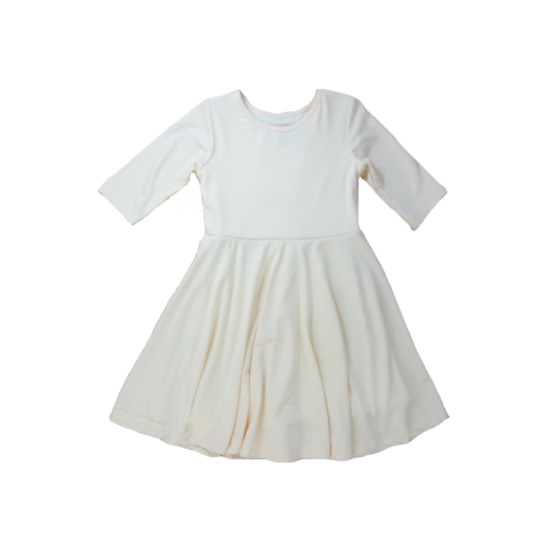 Girls Cream Twirl Dress
