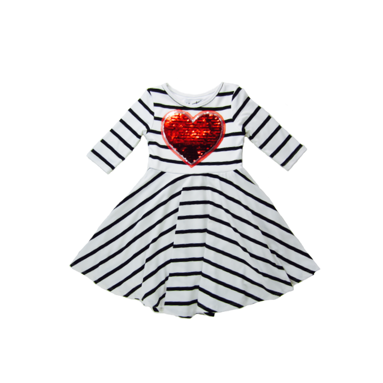 Girls Red Heart Dress | Liberty Lark