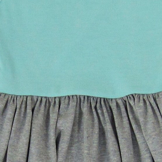 Girls Teal Colorblock Maxi Dress