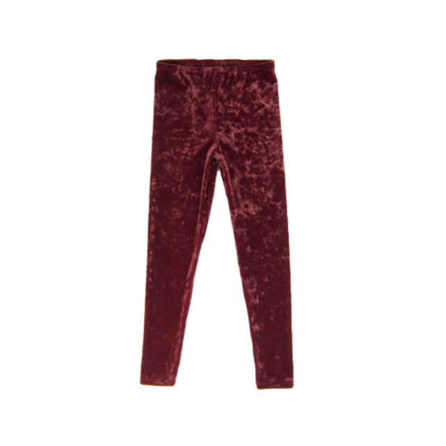 Girls Rust Crushed Velvet Leggings