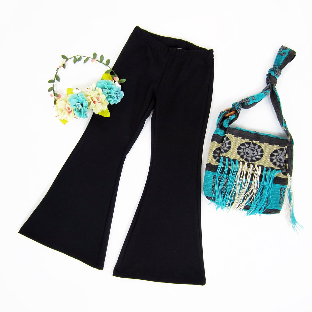 Girls Black Bell Bottoms