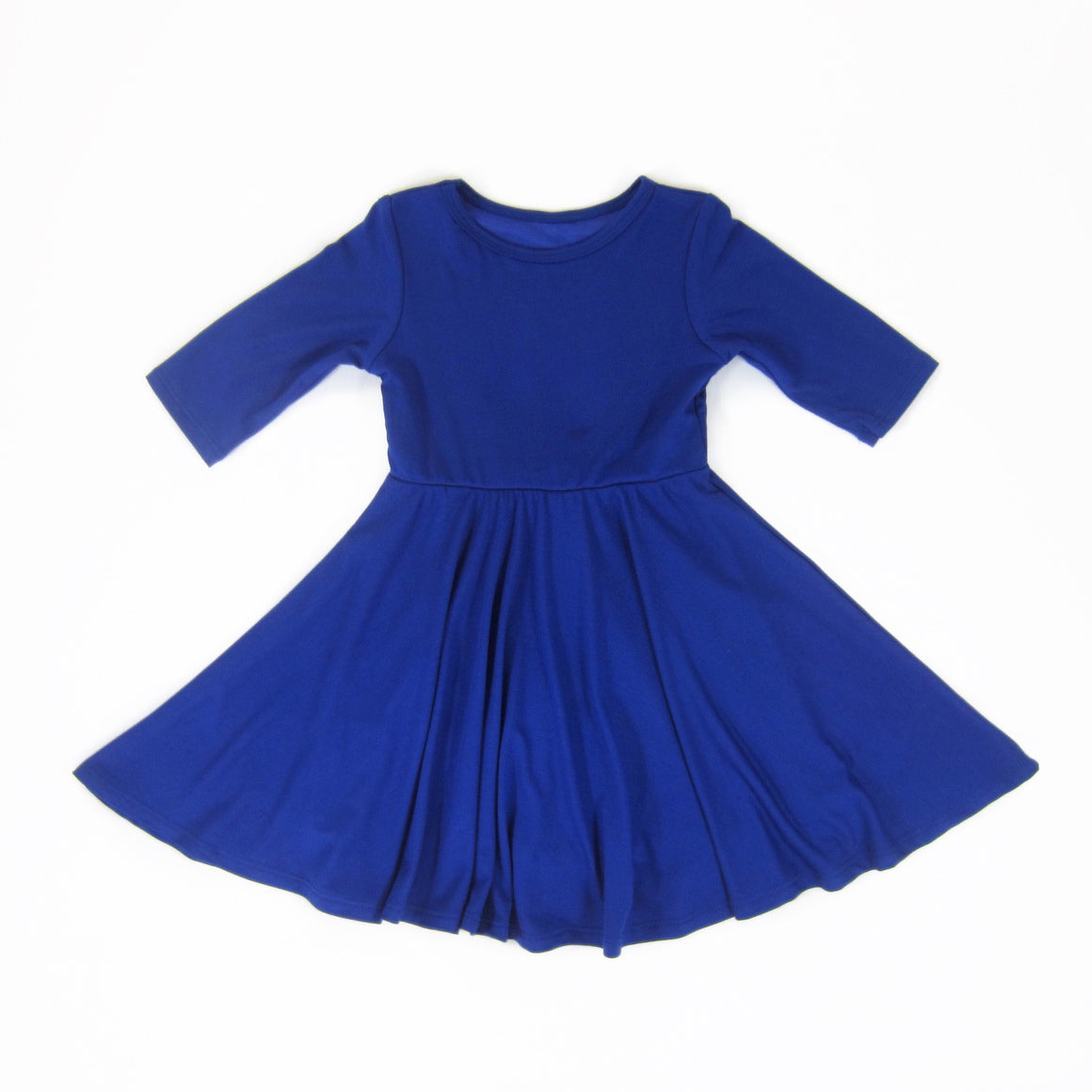 Girls Royal Blue Twirl Dress | Liberty Lark
