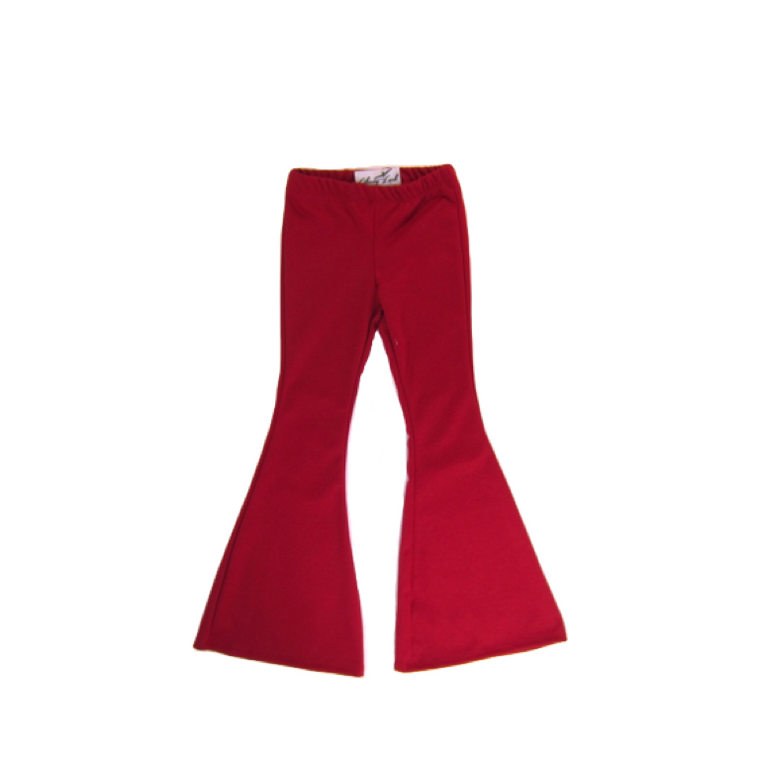 Girls Red Bell Bottoms | Liberty Lark