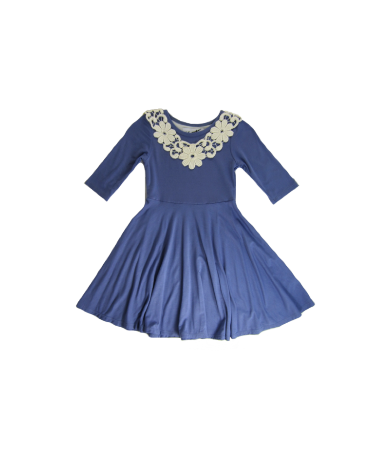 Girls Lavendor Violet Twirly Dress