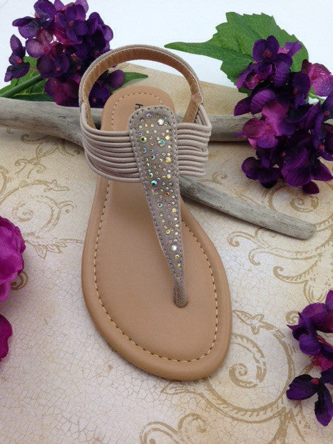 Girls Taupe Sandals