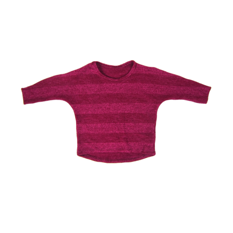 Girls Raspberry Dolman Top