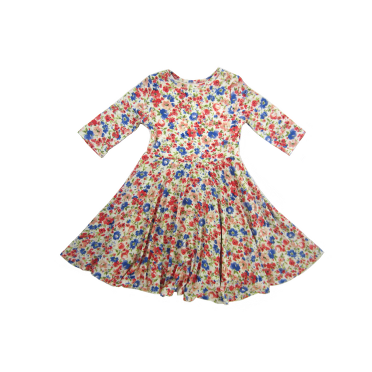 Girls Blossom Twirl Dress - Liberty Lark