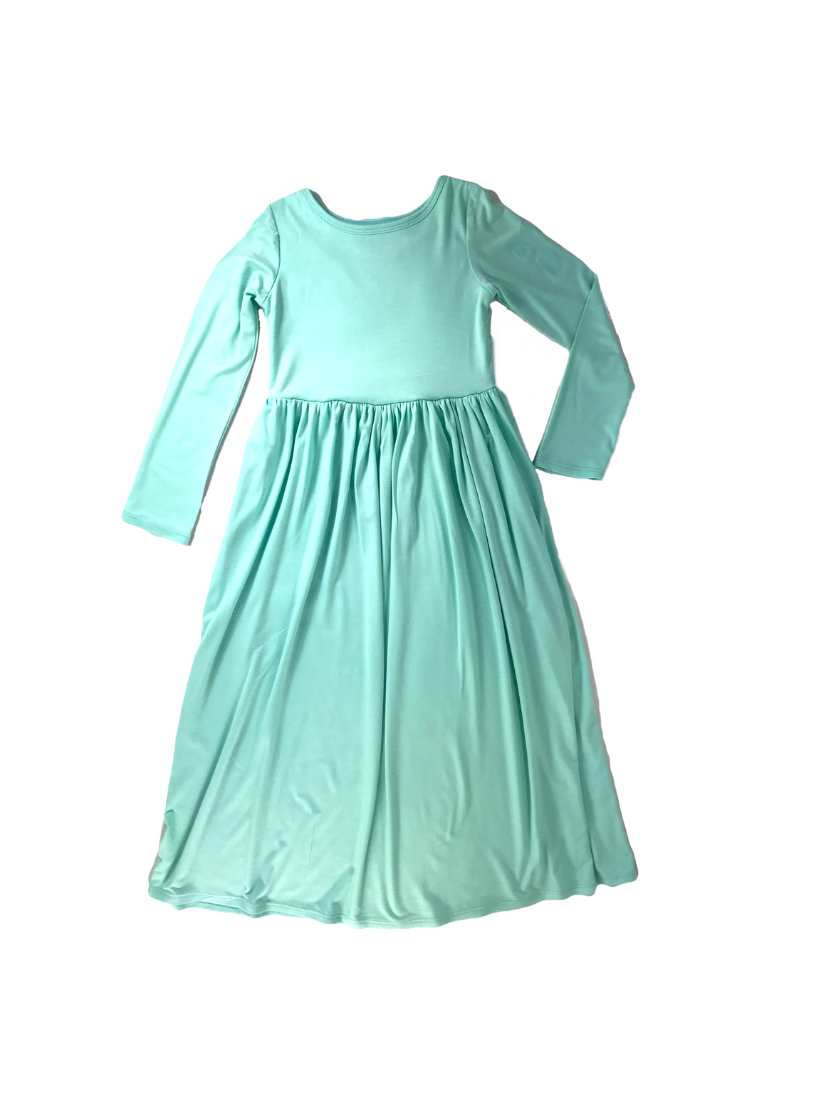 Girls Aquamarine Maxi Dress