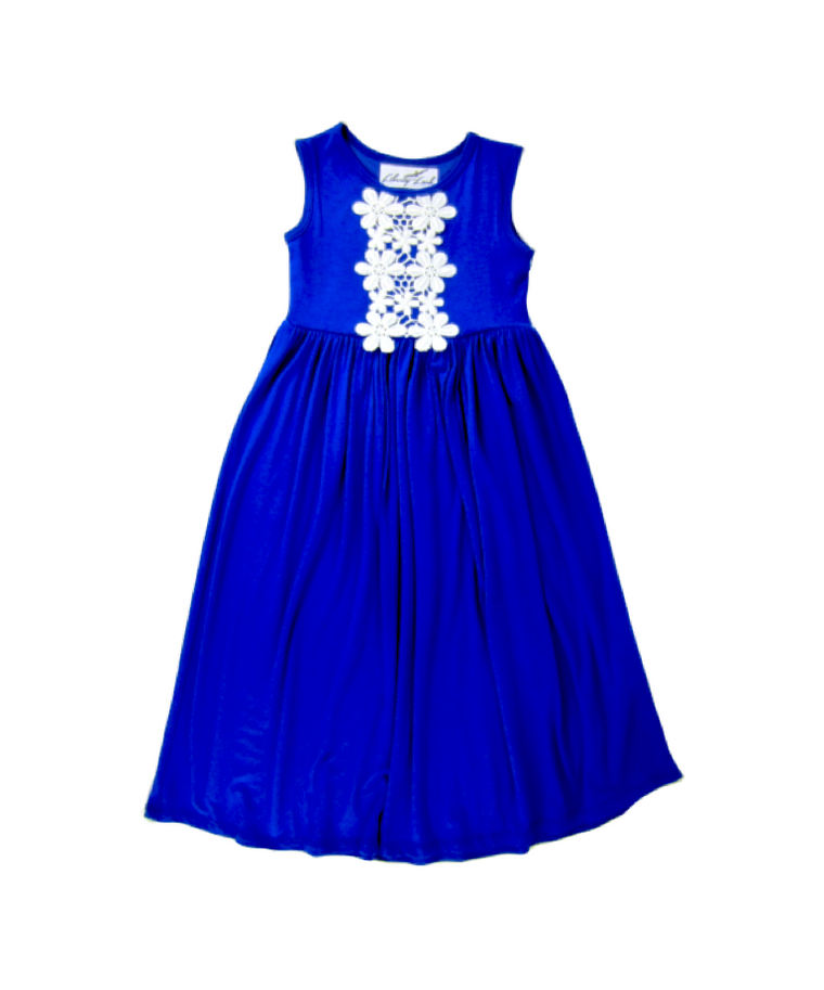 Girls Royal Blue Maxi Dress