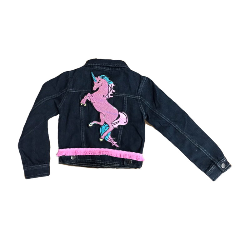 Girls Pony Denim Jacket