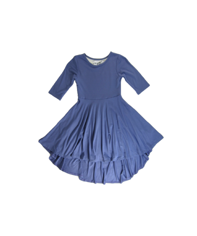 Girls Lavendor Hi-Low Dress