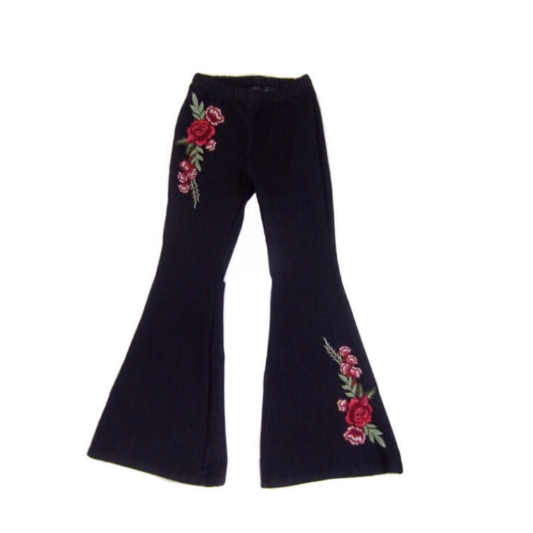 Girls Denim Bell Bottom Pants