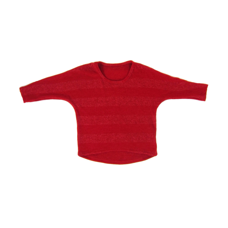 Girls Red Shimmer Top