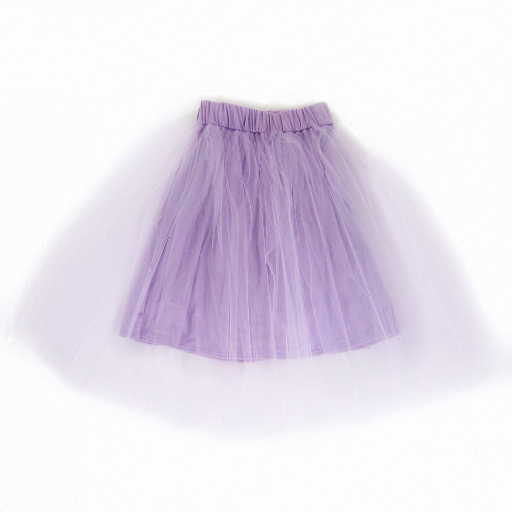 Girls Lilac Tulle Midi Skirt