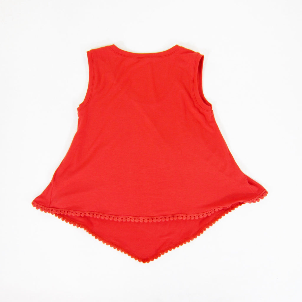 Girls Scalloped Coral Top