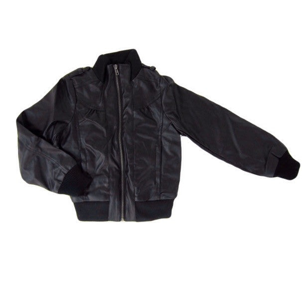 Girls Black Bomber Jacket