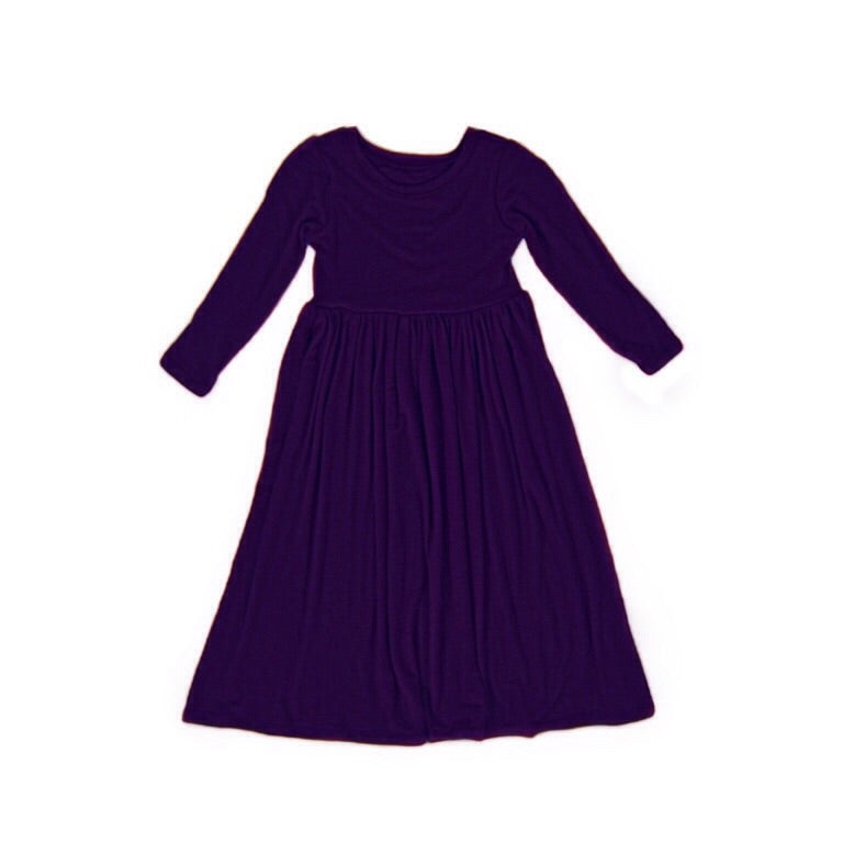 Girls Purple Maxi Dress