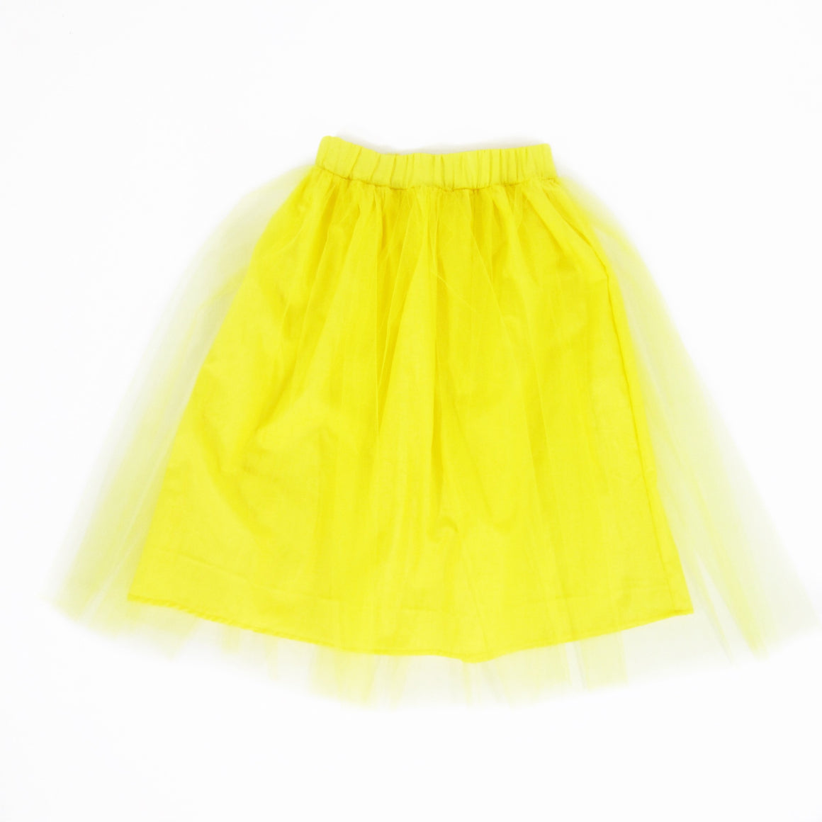 Girls Yellow Tulle Skirt