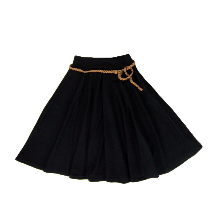 Girls Black Flare Skirt