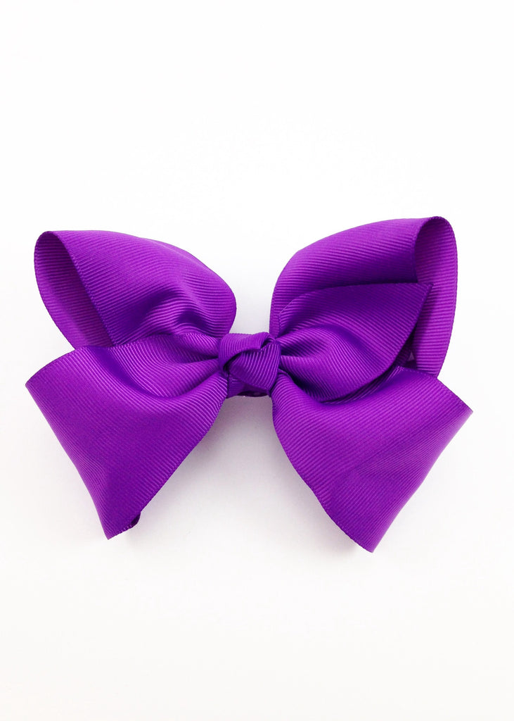 Girls Purple Grosgrain Hairbow