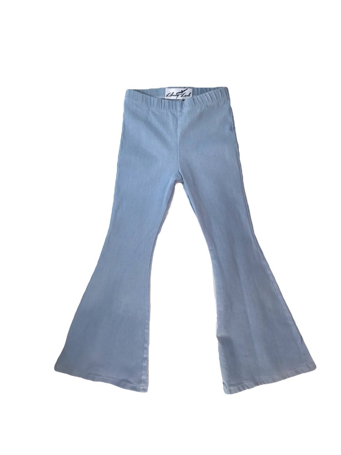 Light Blue Denim Bell Bottoms