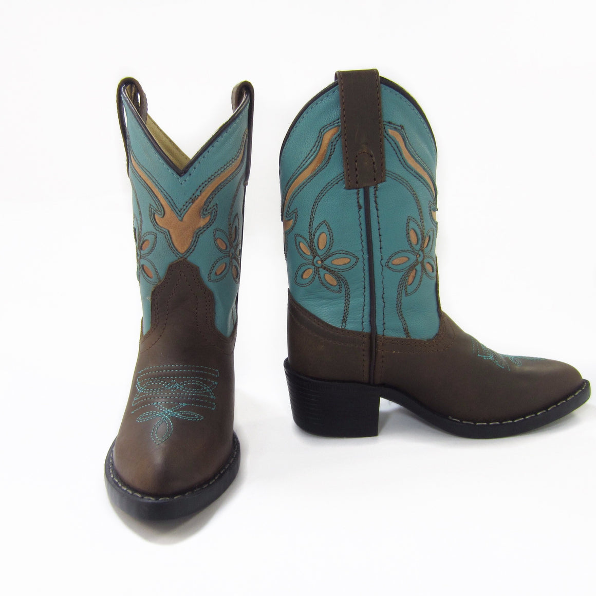 Girls Brown Western Boots