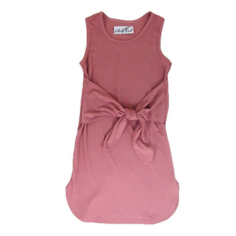 Girls Pink Tie-Knot Dress