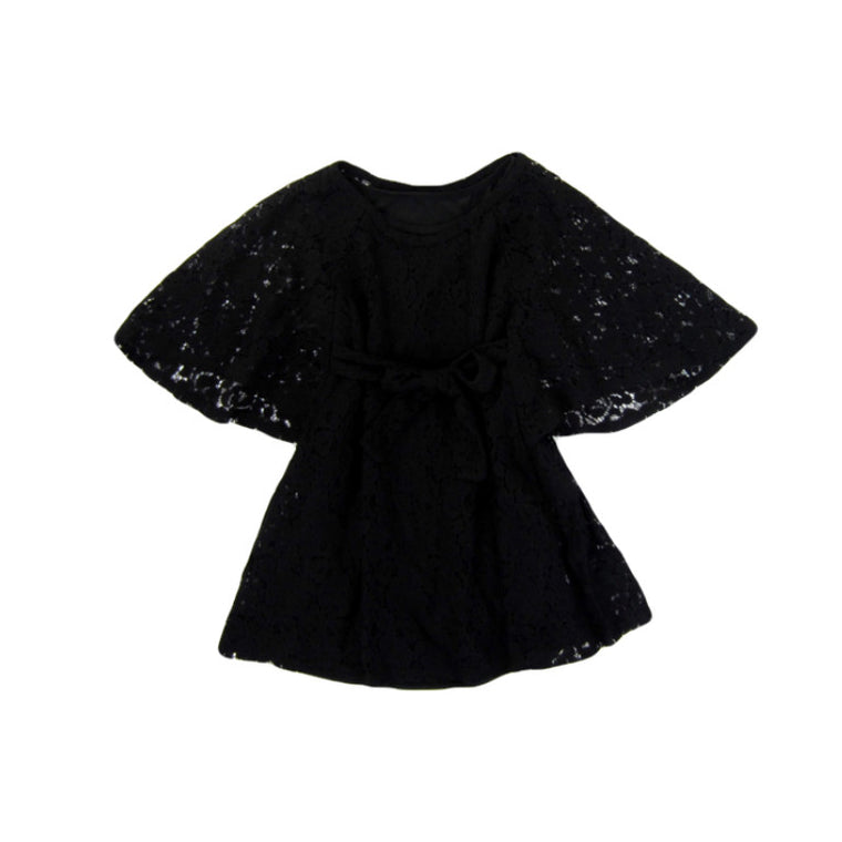 Girls Black Lace Boho Dress | Liberty Lark