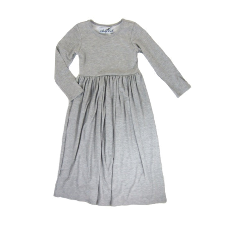 Girls Gray Maxi Dress
