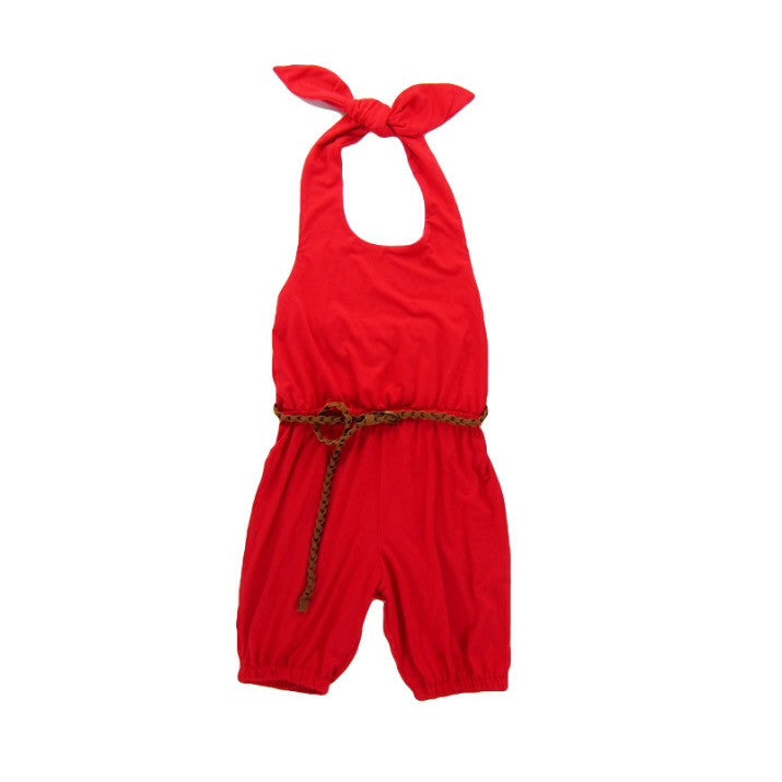 Girls Red Coral Romper | Liberty Lark