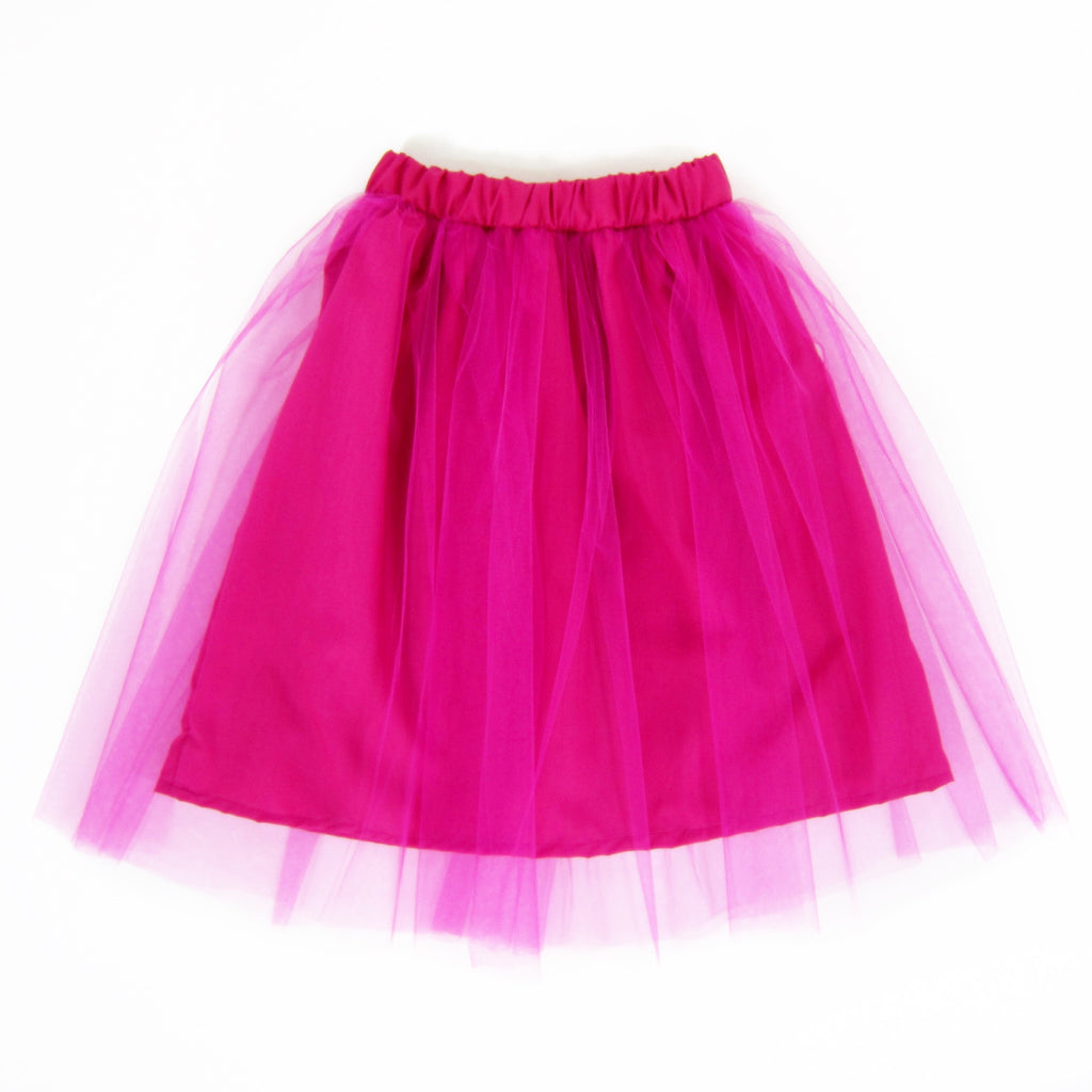 Girls Fuchsia Tulle Skirt