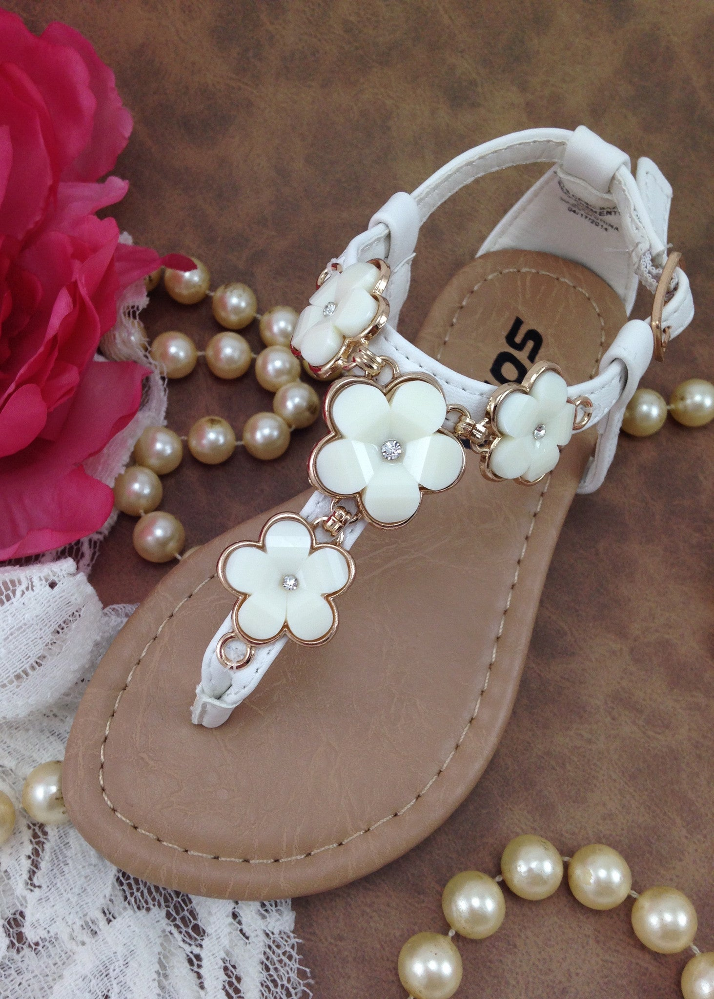 Girl shoes girls white flower sandals shoes for girls sandals girls white t strap flower sandals mightylinksfo