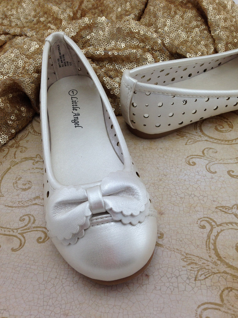 Girls Ivory Shoes