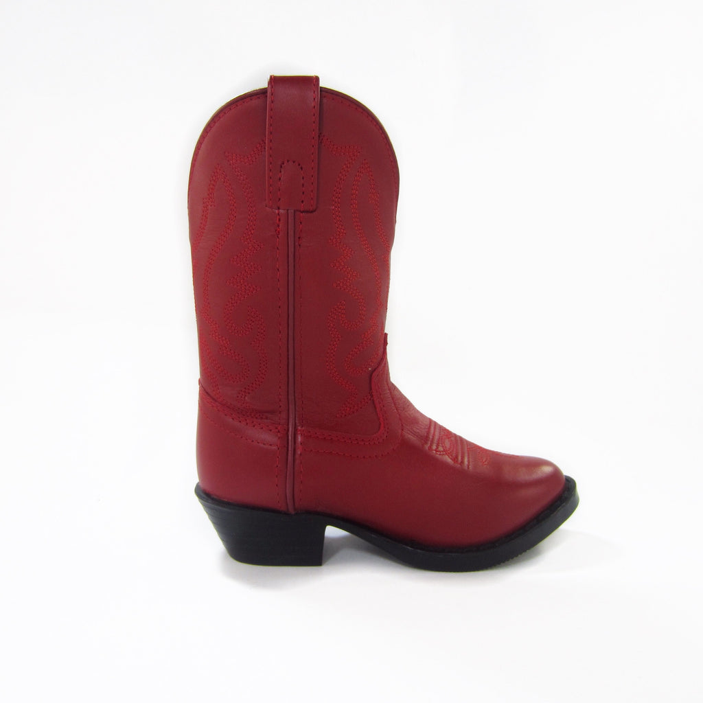 Girls Red Western Boots