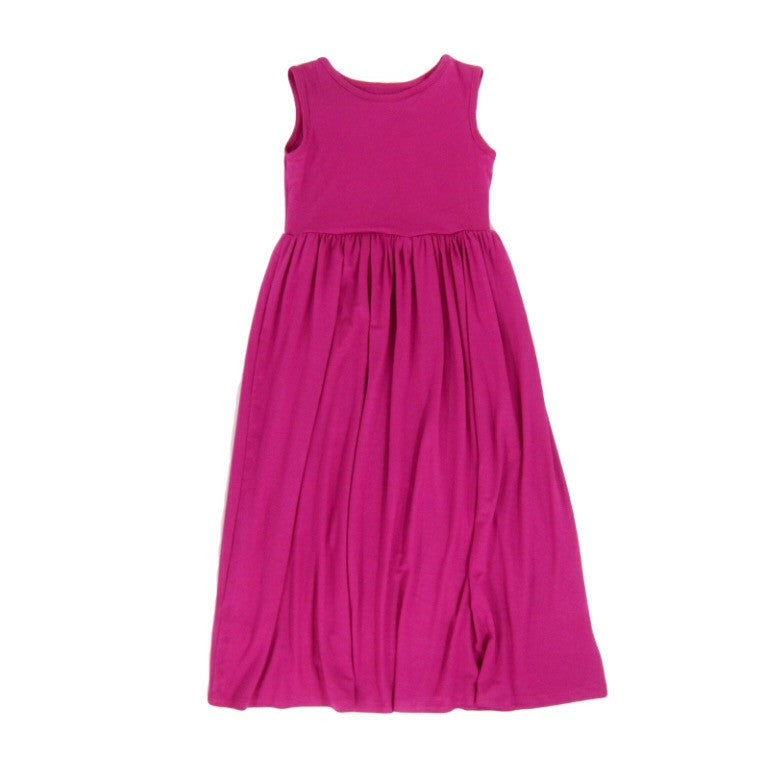 Girls Pink Summer Maxi Dress
