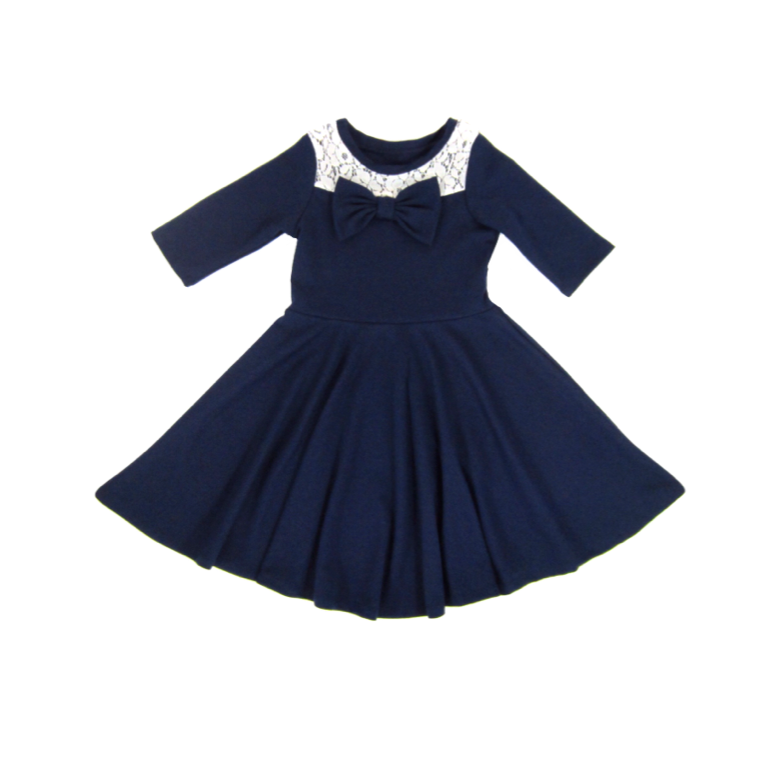 Girl Navy Blue Dress