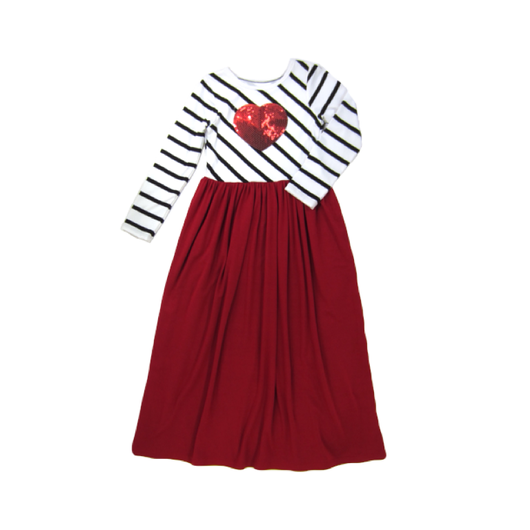 Girl Striped Red Dress