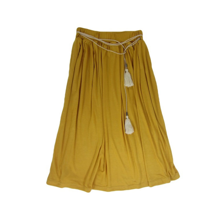 Girls Mustard Maxi Skirt