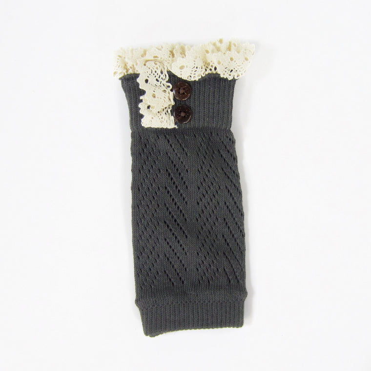 Grey Boot Cuffs