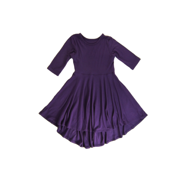 Girls Purple Hi-Lo Dress