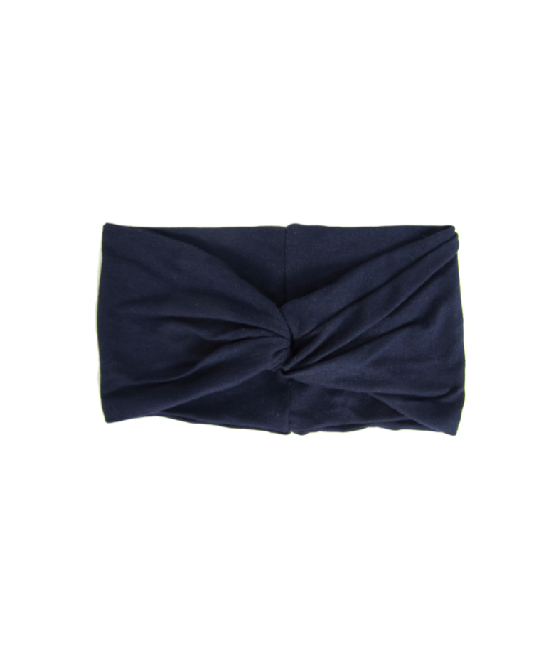 Navy Turban Twist Headband