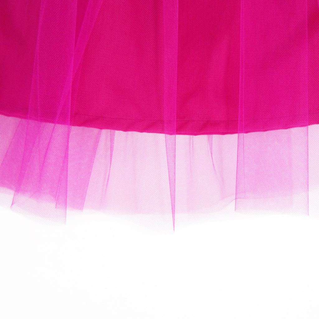 Girls Fuchsia Tulle Midi Skirt