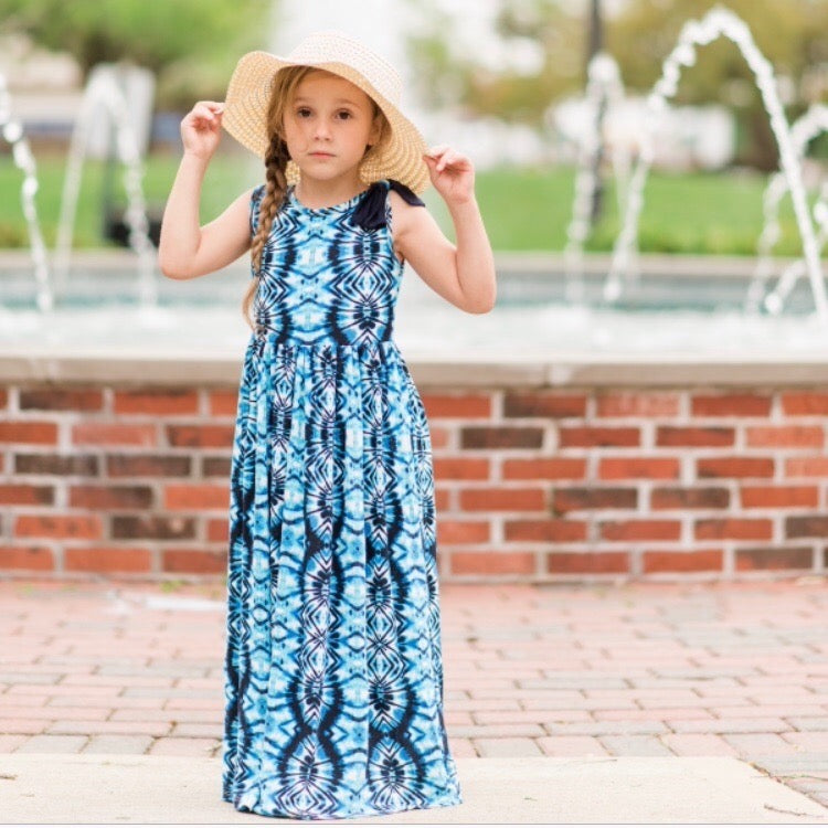 Girls Sleeveless Maxi Dress | Liberty Lark