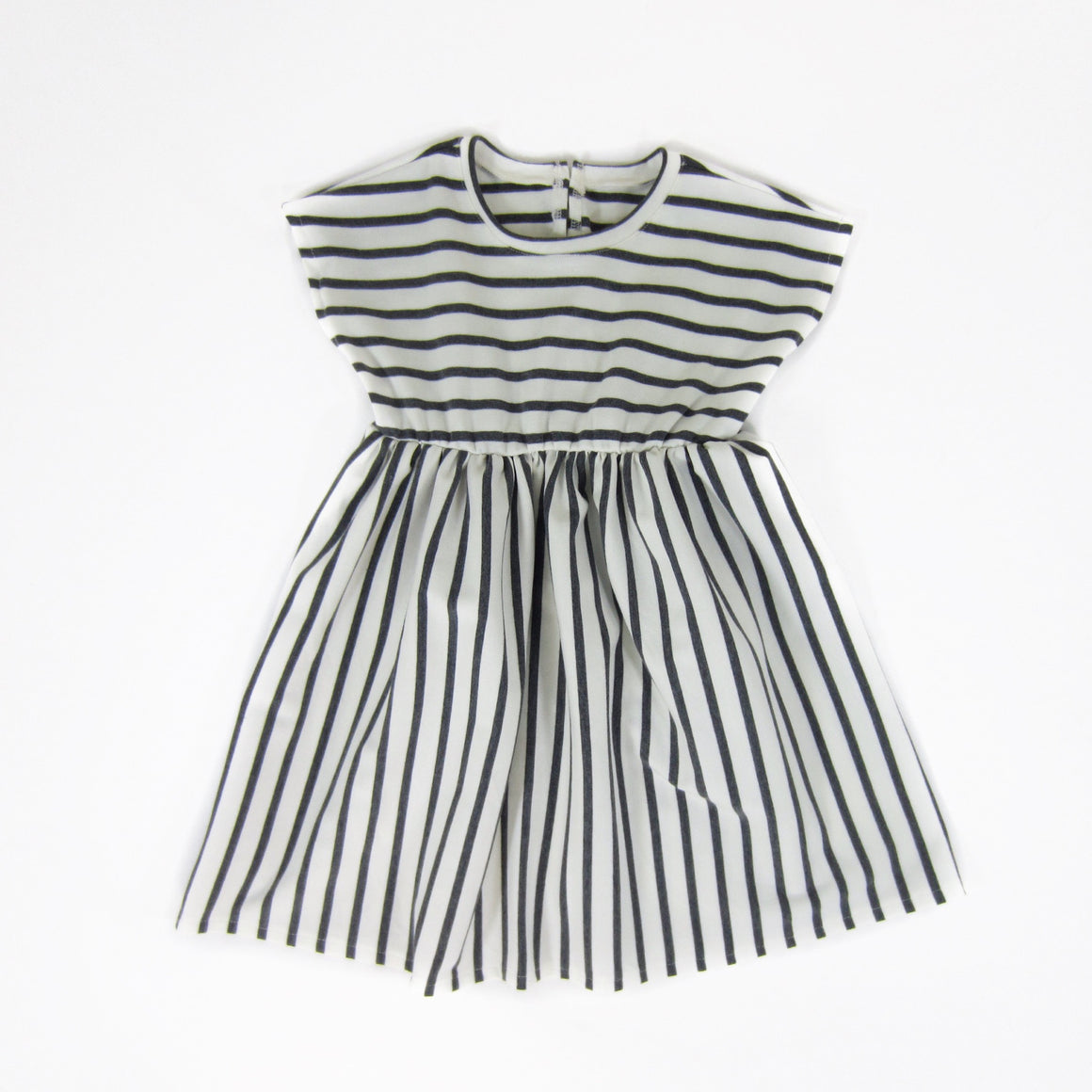 Toddler Girls Grey Striped Dress