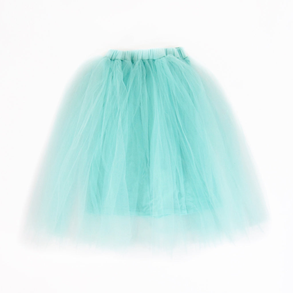 Girls Teal Tulle Skirt - Liberty Lark