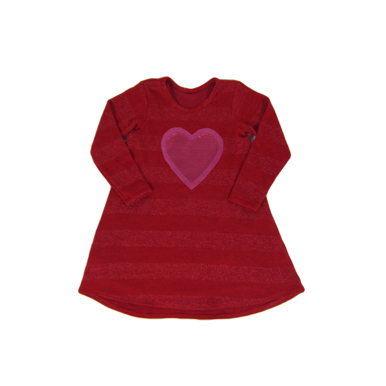 Girls Red Shimmer Dress