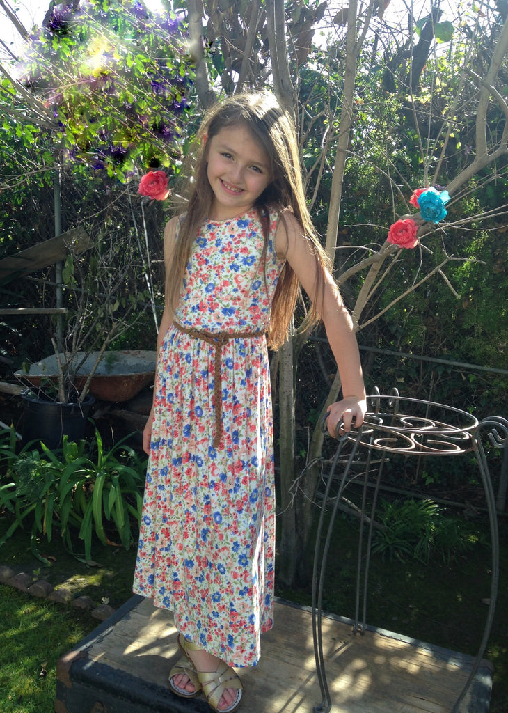 Girls Blossom Maxi Dress