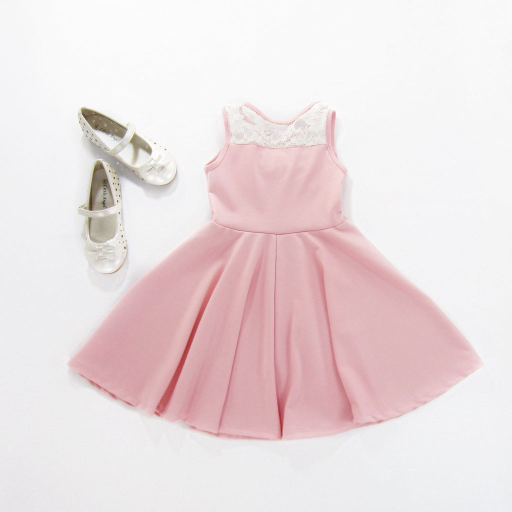 Girls Blush Pink Dress